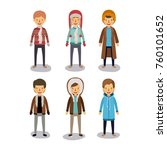 winter people background with... | Shutterstock .eps vector #760101652