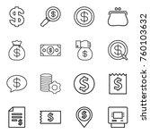 thin line icon set   dollar ...   Shutterstock .eps vector #760103632