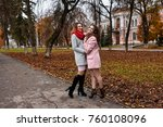 two beautiful young ladies in... | Shutterstock . vector #760108096