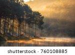 Morning Light Lake In The Mist...