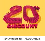20  discount form by shopping... | Shutterstock .eps vector #760109836