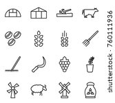 thin line icon set   greenhouse ...   Shutterstock .eps vector #760111936