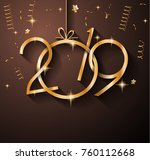 2019 happy new year background... | Shutterstock .eps vector #760112668
