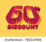60  discount form by shopping... | Shutterstock .eps vector #760114486