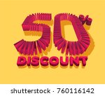 50  discount form by shopping... | Shutterstock .eps vector #760116142