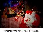 santa claus on christmas stress | Shutterstock . vector #760118986