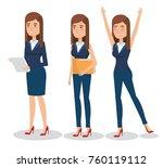 elegant business woman in...   Shutterstock .eps vector #760119112