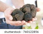 black truffle mushroom   Shutterstock . vector #760122856