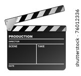 vector film maker clapper board | Shutterstock .eps vector #76012336