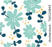 seamless pattern with colorful... | Shutterstock .eps vector #760124845