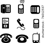 phones icons  signs  vector... | Shutterstock .eps vector #76012537