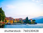 view of colorful town and... | Shutterstock . vector #760130428