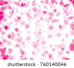 love background pink red heart... | Shutterstock . vector #760140046