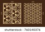 laser cutting set. woodcut... | Shutterstock .eps vector #760140376