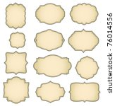 set of vintage frames | Shutterstock . vector #76014556