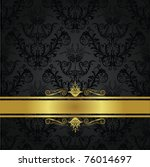 luxury charcoal and gold gothic ... | Shutterstock .eps vector #76014697