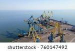 aerial view port. port cargo... | Shutterstock . vector #760147492