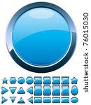 set of 28 shiny blue glass... | Shutterstock .eps vector #76015030