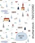 scandinavian  notebook cover.... | Shutterstock .eps vector #760152082