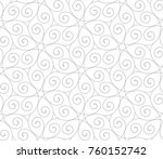 intersecting curved elegant... | Shutterstock .eps vector #760152742