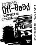 off road event vector poster.... | Shutterstock .eps vector #760157245