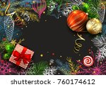 christmas and new years... | Shutterstock .eps vector #760174612