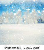 winter background  falling snow ... | Shutterstock . vector #760176085