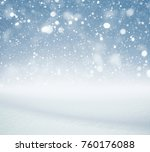 winter background  falling snow ... | Shutterstock . vector #760176088