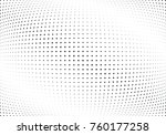 abstract halftone wave dotted... | Shutterstock .eps vector #760177258