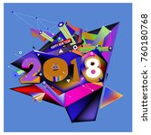 new year 2018. colorful design.   Shutterstock .eps vector #760180768