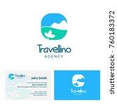 travel logo design include... | Shutterstock .eps vector #760183372