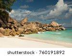 la digue  seychelles | Shutterstock . vector #760191892