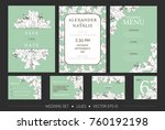 vector invitation set with... | Shutterstock .eps vector #760192198