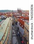 Small photo of Prague city center skyline