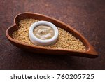 tahini and sesame seeds   food... | Shutterstock . vector #760205725