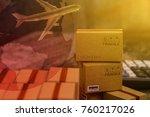 packing light brown cardboard... | Shutterstock . vector #760217026