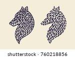 wolf abstract template logo... | Shutterstock .eps vector #760218856