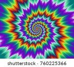 pulsing fiery spirals. optical... | Shutterstock .eps vector #760225366