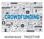 crowdfunding   hand drawn...   Shutterstock .eps vector #760227148