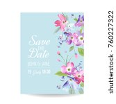 wedding invitation template... | Shutterstock .eps vector #760227322