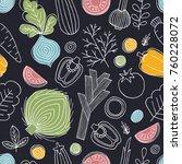 scandinavian style seamless... | Shutterstock .eps vector #760228072