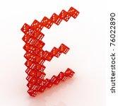dice font letter e. red...   Shutterstock . vector #76022890