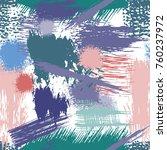 splash brush strokes seamless... | Shutterstock .eps vector #760237972