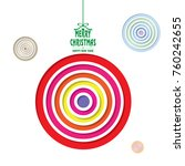 christmas decorations  ... | Shutterstock .eps vector #760242655