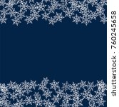 frame of snowflakes. christmas... | Shutterstock .eps vector #760245658