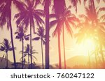 copy space of silhouette... | Shutterstock . vector #760247122