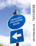 Sign Emergency Evacuation Route ...