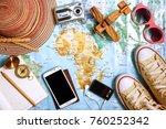 travel plan  trip vacation ... | Shutterstock . vector #760252342