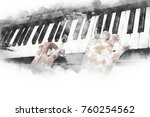 abstract beautiful hand playing ... | Shutterstock . vector #760254562