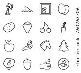thin line icon set   palm ... | Shutterstock .eps vector #760263706
